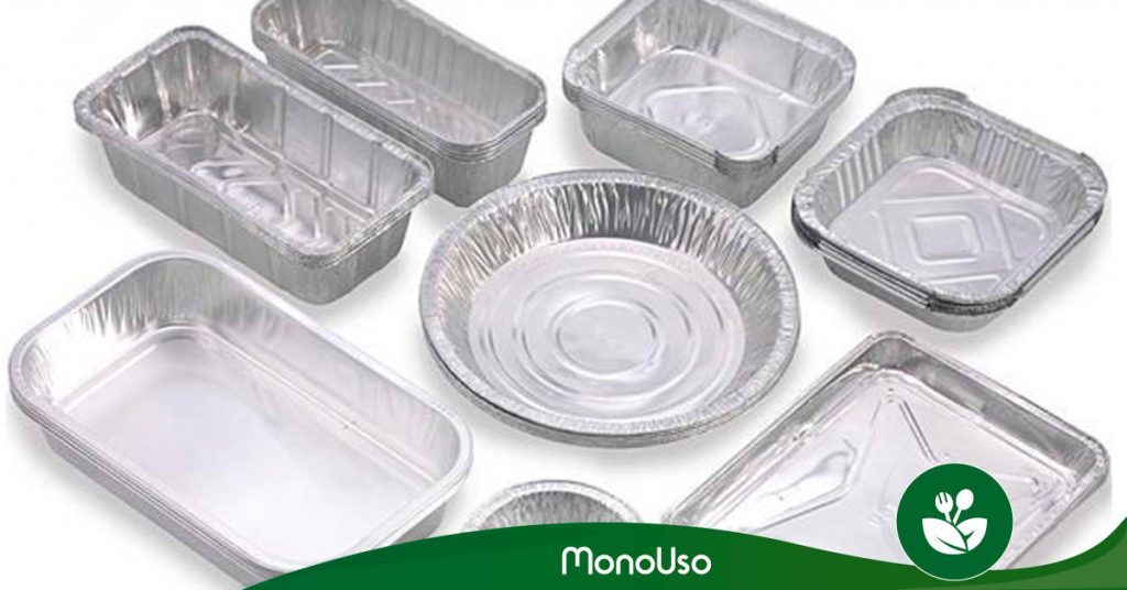 Bandejas de aluminio en microondas