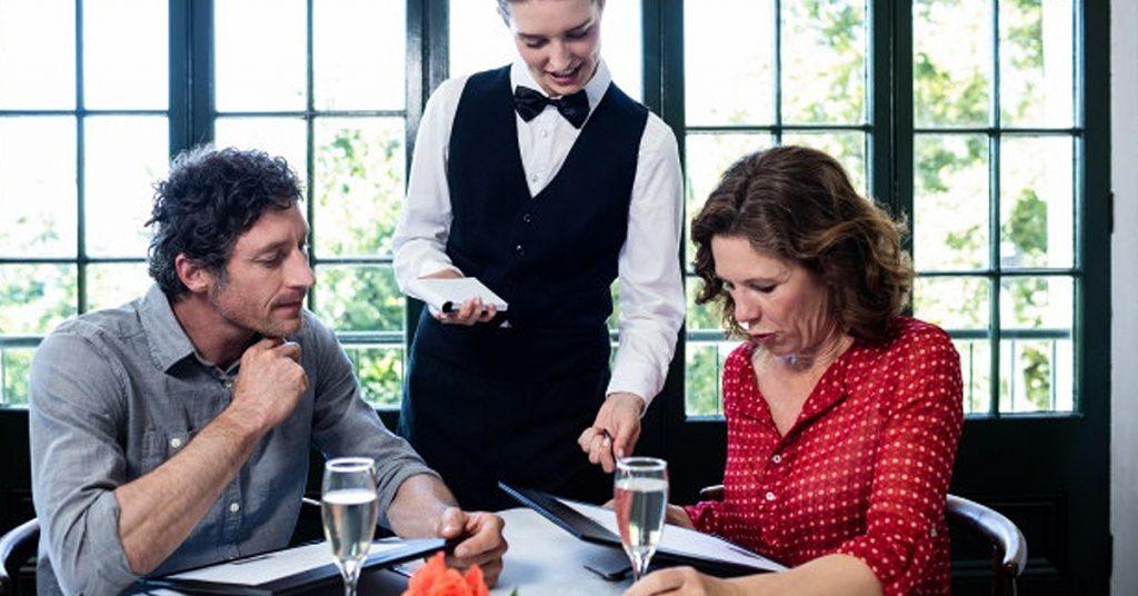Tipos de menú para un restaurante
