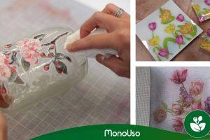 Come decorare il vetro con tovaglioli di carta
