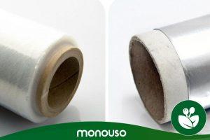 Utilizzi in cucina di fogli di alluminio o di pellicola trasparente